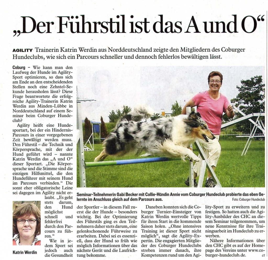 Coburger Tageblatt vom 03.09.2011